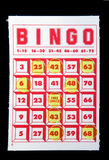 Carte de bingo-test Photo stock