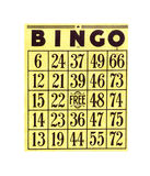 Carte de bingo-test Photographie stock libre de droits