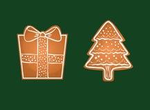 Carte de biscuits de Joyeux Noël Photographie stock libre de droits