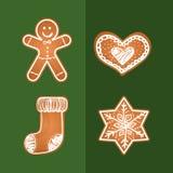 Carte de biscuits de Joyeux Noël Photos libres de droits
