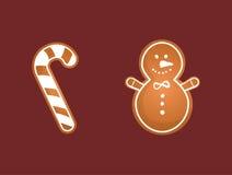 Carte de biscuits de Joyeux Noël Photo stock