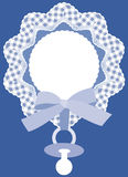 Carte de bleu de chéri Image stock