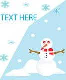 Carte de bonhomme de neige Photographie stock