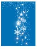 Carte de bonne année brillante bleue et de Joyeux Noël avec des boules de Noël Carte de voeux ou calibre de fête d'affiche photos libres de droits