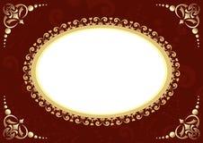 Carte de Brown avec l'ovale et le bagout Image libre de droits