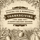 Carte de Brown de vintage de thanksgiving illustration libre de droits