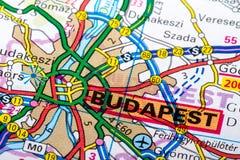 Carte de Budapest Photographie stock libre de droits