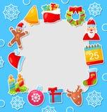 Carte de célébration de Joyeux Noël Images stock