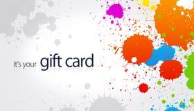 Carte de cadeau - éclaboussure Photo libre de droits