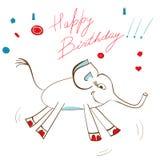 Carte de cadeau avec l'éléphant Photographie stock libre de droits