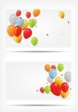 Carte de cadeau avec l'illustration de vecteur de ballons Image libre de droits