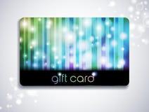 Carte de cadeau d'arc-en-ciel Photos stock