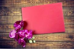 Carte de cadeau d'isolement sur le blanc Image libre de droits