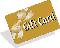 Carte de cadeau/ENV Photo stock