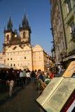 Carte de café à Prague photos stock
