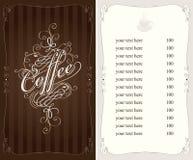 Carte de café illustration de vecteur