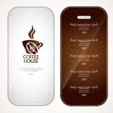 Carte de café Photo libre de droits