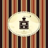 carte de café de cru Photo libre de droits