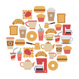 Carte de café Images stock