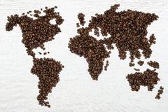Carte de café Photographie stock libre de droits