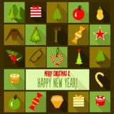 Carte de calibre de conception de Noël Photographie stock libre de droits