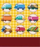 Carte de camion de dessin animé Photo stock
