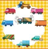 Carte de camion de dessin animé Image libre de droits