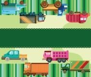 Carte de camion de dessin animé Photographie stock libre de droits
