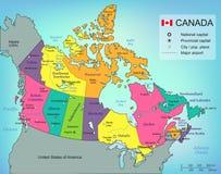 Carte de Canada avec des provinces Tous les territoires sont sélectionnables Vecteur Image stock