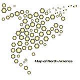 Carte de Canada Costa Rica Cuba Mexico Etats-Unis de l'Amérique du Nord Images stock