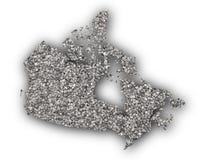 Carte de Canada sur des clous de girofle Photos stock