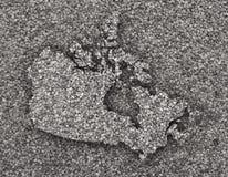 Carte de Canada sur des clous de girofle Images stock
