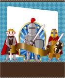 Carte de chevalier de dessin animé Images libres de droits