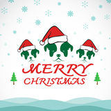 Carte de chien de salutation de Joyeux Noël de vecteur illustration stock