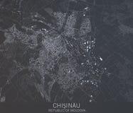 Carte de Chisinau Moldau, vue satellite, ville, Moldova Photographie stock libre de droits