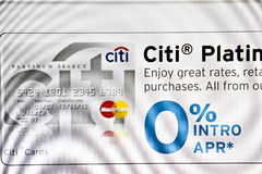 Carte de Citi Photos stock