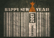 Carte de célébration de nouvelle année et de Noël Texte d'an neuf heureux Photographie stock