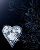 Carte de coeurs de tisonnier de diamant Image stock