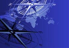 Carte de compas et du monde illustration libre de droits