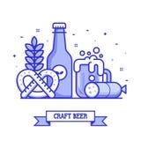 Carte de concept de brassage de bière de métier illustration stock