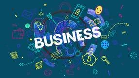 Carte de concept d'affaires Photo libre de droits