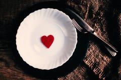 Carte de concept d'amour de jour de valentines belle Images stock