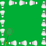 Carte de concept de badminton Photographie stock