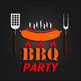 Carte de conception de BBQ Illustration de vecteur ENV 10 Photo stock