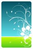 Carte de conception florale de ciel et d'herbe Image stock