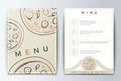 Carte de conception Nourriture de menu Photographie stock libre de droits
