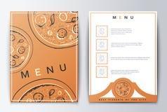 Carte de conception Nourriture de menu Images libres de droits