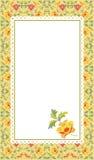 Carte de configuration florale Photo libre de droits