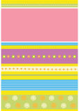 Carte de configuration florale Images stock