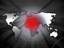 Carte de conflit de l'Afrique Photos stock